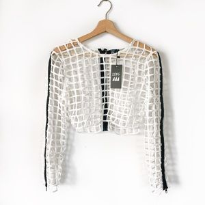 12345 • Net Crop Jacket